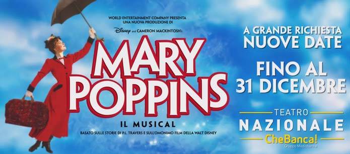 spettacolo MARY POPPINS musical a teatro Milano