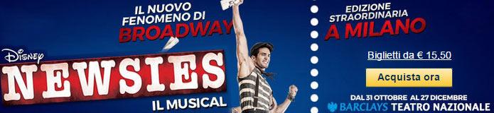 Biglietti NEWSIES musical